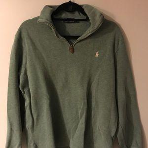 Men's polo quarter zip sweater